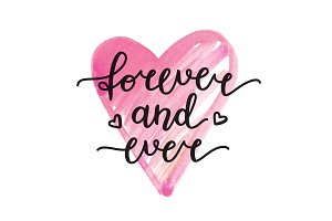 Forever and ever. Vector lettering.