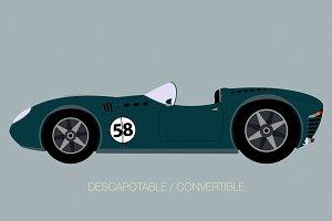 vintage street racing car