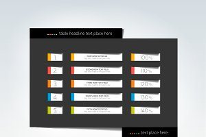 Table, schedule, infographic design