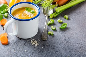 Homemade carrot soup