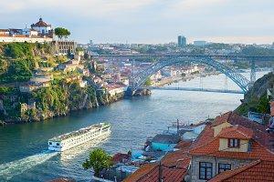 Cruise ship in Porto, Portugal