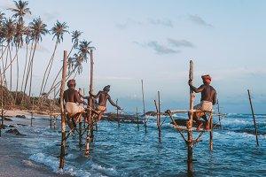 traditional fishing in Sri Lanka