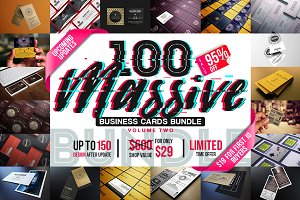 100 Massive Business Cards Bundle V2