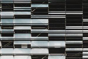 Glass and metal irregular facade