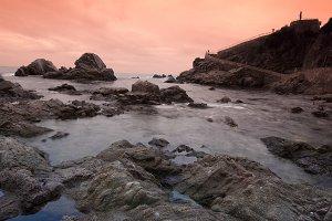 Seascape of the Costa Brava.