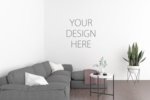 Interior mockup - art gallery mockup