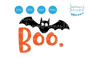 Boo SVG, Bat SVG, Halloween SVG