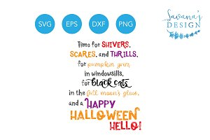 Halloween Quote SVG EPS DXF PNG