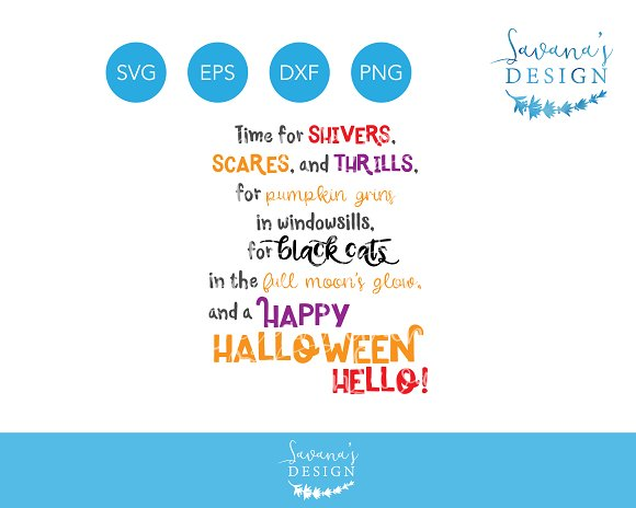 Halloween Quotes Svg.Halloween Quote Svg Eps Dxf Png