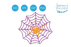Spider and Web SVG Spiderweb SVG