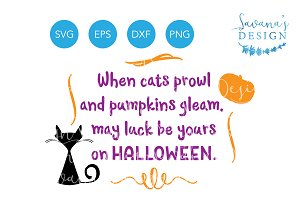 Halloween Quote SVG Halloween Poem