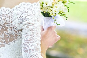 Bouquet in bride's hands