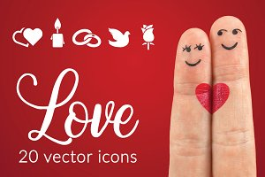 LOVE - vector icons