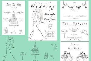 Elegant Wedding Invitation Set