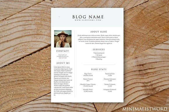 One Page Media Kit Template MS Word in Templates