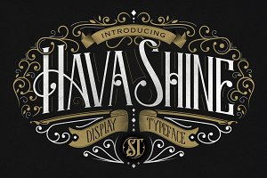 HavaShine Typeface with Extras