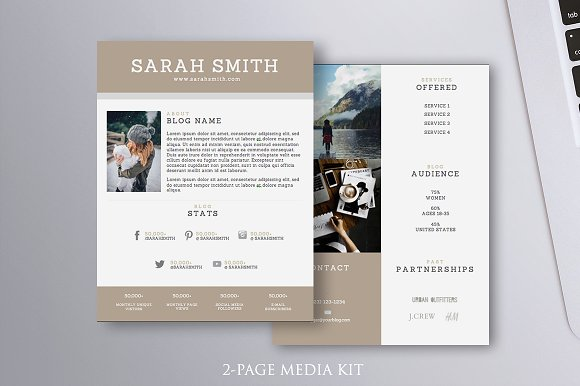 2-Page Media Kit Template MS Word