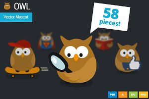 Owl - Vector Webiste Mascot