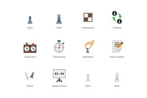 Chess colored icons