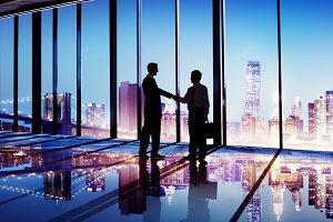 Businessmen Handshake Corporate