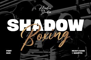 Shadow Boxing Font Duo