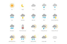 Weather colored icons