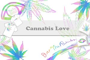 Cannabis Love Leaf Set