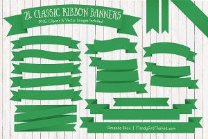 Green Ribbon Banner Clipart