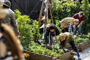 Farmer market concept