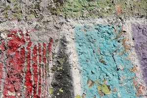 Colorful Concrete Wall