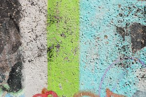 Old Weathered Graffiti Wall
