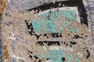 Weathered Graffiti Wall.