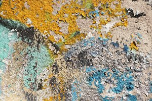 Old Weathered Colorful Wall