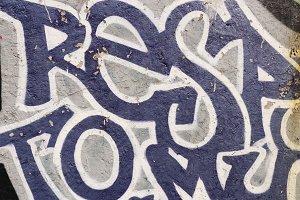 Graffiti Wall. Tag Words.