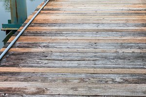Old boardwalk or dock