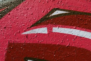Red Old Weathered Graffiti Wall