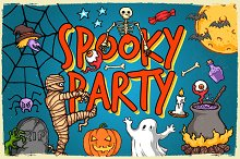 Spooky Party ( Halloween Patterns )