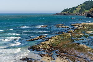 Tidal pools on Oregon Coast