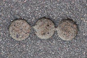 Road asphalt texture. Holes