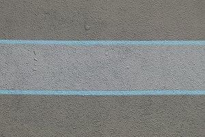 Blue stripes paint concrete wall