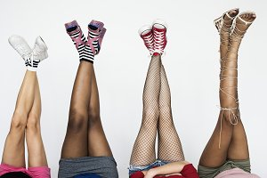 Legs of diverse colors