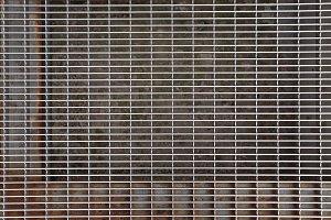 Steel weathered doorstep cells.