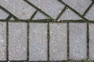 Paving stone sidewalk texture.