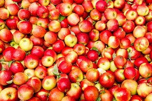 Fresh apples at the market