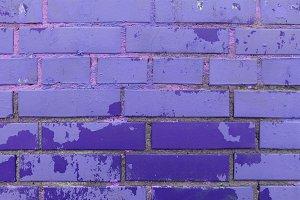Colored bricks wall texture.