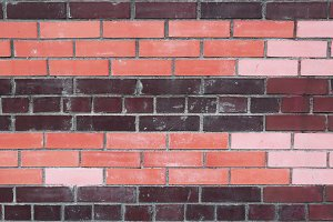 Dirty colored bricks wall texture