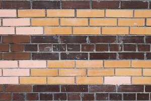 Colored bricks wall texture