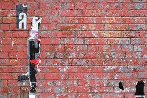 Red bricks urban street wall