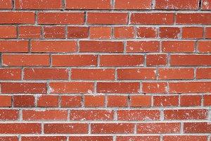 Cement stains red bricks