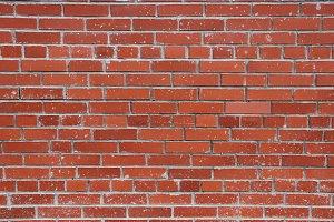 Red bricks street wall